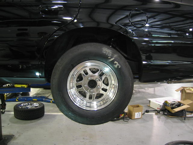 Bogart Wheels and Mickey Thompson Slicks